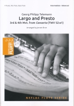 LARGO AND PRESTO : 3RD & 4TH MOV. FROM CONCERTO (TWV52:e1) (ARR.BRON)