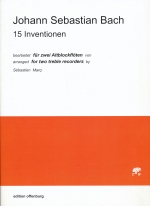 15 INVENTIONEN (2A) (ARR.MARQ) SCORE & 2ND PART