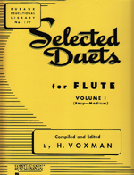 SELECTED DUETS FOR FLUTE,VOL.1 EASY-MEDIUM (ED.VOXMAN)