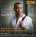 QUANTZ : FOUR CONCERTOS FOR FLUTE & STRINGS
